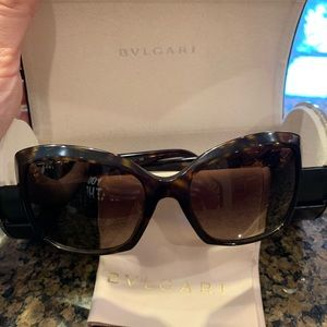 BVLGARI brown dark Havana sunglasses